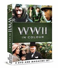 WWII IN COLOUR 4 DVD BOOK MAGAZINE SET WORLD WAR 2 ALL 13 EPISODES ROBERT POWELL
