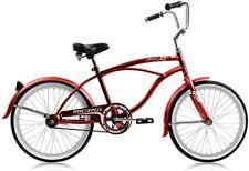 "Micargi JETTA-M-RED Men's 20"" Beach Cruiser Bicycle Bike, Red Coaster Brake NEW"