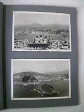 ALBUM de 12 ancienne photo SAN SEBASTIAN BILBAO SANTANDER en 1950