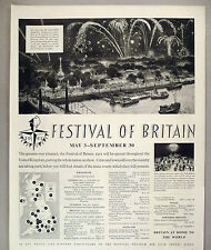 Festival of Britain PRINT AD - 1951 ~~ London, United Kingdom