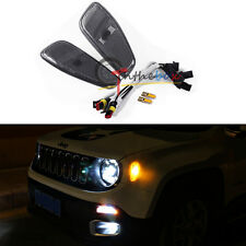 2x Smoked Amber LED Lights Side Marker Lights Update Kit For 15-up Jeep Renegade