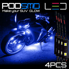 Neon Glow Underbody BLUE Rock Lights Motorcycle LED Kit for Kawasaki Ninja 300
