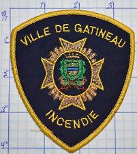 CANADA, VILLE DE GATINEAU FIRE INCENDIE QUEBEC GOLD EDGE PATCH