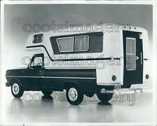 1968 1960s Pick Up Truck With Camper Press Photo