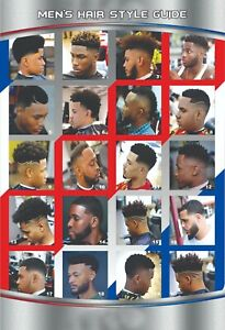 24 X 36 BARBER SHOP POSTER MODERN HAIR STYLES FOR MEN YOUTH AND KIDS