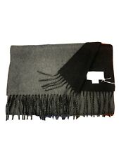 100% Pure Cashmere Scarf | House of Cashmere | Black and Grey | Reversible