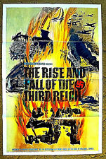 "ADOLPH HITLER his rise to fame & his DEATH ! - 1968 poster 27x41 - ""RISE & FALL"