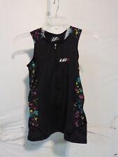 Louis Garneau Women's Pro Carbon Sleeveless Triathlon Top Small Black Multi