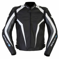 SPADA CORSA GP LEATHER MOTORCYCLE JACKET SPORTS BLACK ANTHRACITE RRP £239.99