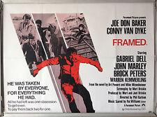 Cinema Poster: FRAMED 1975 (Quad) Joe Don Baker Conny Van Dyke
