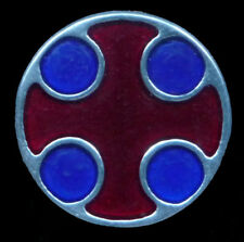 I in Pewter and Enamel Replica Late Anglo-Saxon Brooch Style