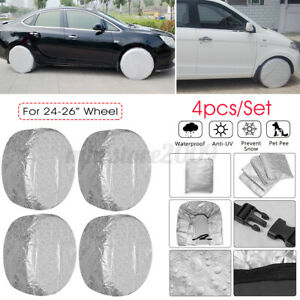4Pcs Waterproof Tire Covers Wheel &Tyre RV Trailer Camper Sun Protector 24 -
