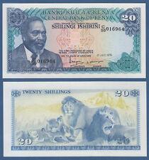 KENIA / KENYA 20 Shillings 1978 UNC  P.17
