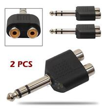 2Pcs Mini Male Stereo Plug to 2 RCA Female Jack Splitter Audio Converter Adapter