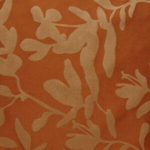 $850 NWT Ann Gish Willow Spice Orange Mango 100% SILK QUEEN Gathered Bedskirt