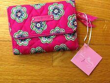 Vera Bradley Euro Wallet in Pink Swirls Flowers, breast cancer awareness, NWT