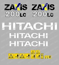 HITACHI ZAXIS 200LC DIGGER DECAL STICKER SET WITH SAFETY WARNING SIGNS
