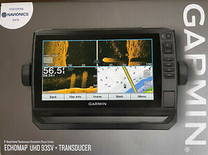 Garmin ECHOMAP UHD 93sv GT54UHD-TM Transducer  US Lake Vu G3 & Navionics Maps