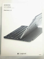 Logicool Ultrathin Bluetooth Wireless Keyboard Cover iPad Mini 1, 2 & 3 - Black