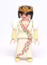Playmobil Figure Castle Princess Queen w/ Tiara Poofy Sleeves Short Hair 3837
