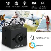 QUELIMA SQ12 MINI CAMERA NIGHT VISION DASH CAM 155 DEGREES FHD 1080P DVR E5S4