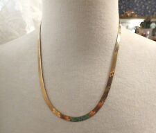 """14k Yellow Gold Herringbone Chain Necklace 20"""" Long 11.56g MilIor Italy 5mm NICE"""