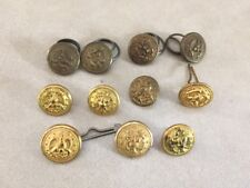 Mixed Lot 11 US Navy Eagle Anchor Brass Metal Round Shank Buttons 1.25-1.5cm