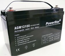 12V 100ah 100 Amp Hour Sealed AGM Rechargeable Deep Cycle Battery Solar, RV