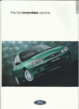 FORD MONDEO VERONA SALES BROCHURE MARCH 2000