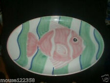 Huge Fish Platter Italy 17 3/4 x 12 3/4
