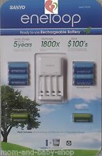 SANYO ENELOOP NiMH RECHARGEABLE BATTERIES AA x8 AAA x4 BATTERY CHARGER x1