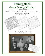 Family Maps Ozark County Missouri Genealogy MO Plat