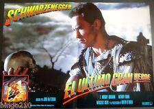 LAST ACTION HERO ORIGINAL1993 SPANISH LOBBY POSTER ARNOLD SCHWARZENEGGER