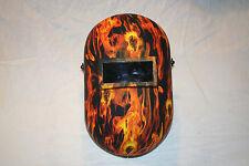 New Custom Honeywell Fibre-Metal 110PWE Pipeliner Welding Helmet/Hood Flames Skl