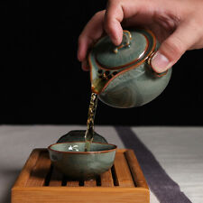 Chinese Longquan Celadon Portable Kung Fu Tea Set  A Pot Of Two Teacup