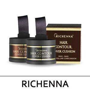 RICHENNA Hair Contour Cover Cushion #1 Black & #2 Brown Speedy Cover Shadow