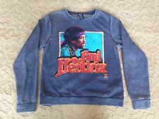 Jimi Hendrix Authentic Bravado Sweatshirt Size M Medium Heather Blue Band