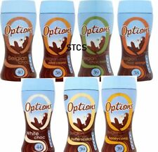 OPTIONS Belgian Hot Drinking Chocolate Powder Many Flavours 220g SHIPS WORLDWIDE