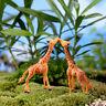 Hot 5 cm Tiere Giraffe Ornament Wohnkultur Garten Figur Bonsai Statue