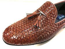 Mocassino MOCCASINO Loafer chiaro marrone intrecciata scarpe uomo pantofola