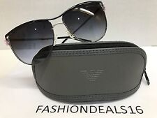 59ae1785b81 New Emporio Armani Women s Black Silver Flower EA2022 3070 8G Sunglasses