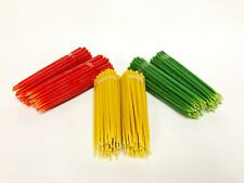 Beeswax candles set of 300 ( 100 green + 100 yellow + 100 red )