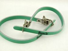 BIANCHI branded toe straps Italian Leather CELESTE vintage Bike LAST NOS
