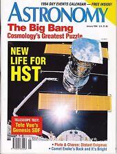 Astronomy Magazine January 1994, Sky Calendar, Solar Eclipse, Local Galaxies