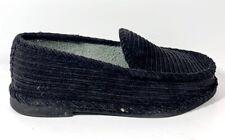 Slippers International Men's Corduroy Black Loafer, 3710 - Size 6W