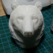 Brown Bear Polar Bear 1/6 Head Carving Model Fit 12' Action Figure Accessory