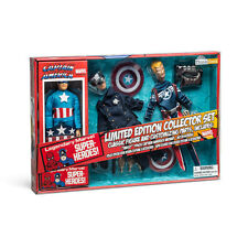 "Captain America Limited Edition Collector Set Only 2000 Retro 8"" *NEW* 3 Figures"
