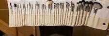 Fraulein3°8 36PCS  Silver Aluminum Rod White Bamboo Grain Makeup Set Brush