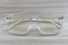 Light Square Translucent Clear Plastic Frame Transparent Mens Women TR90 Glasses