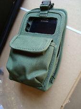 Military OD Radio Electronics Case Molle II IPHONE Galaxy S4 S5 GPS Gun Knife